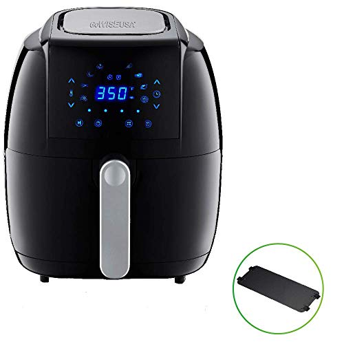 GoWISE USA 8-in-1 Electric Air Fryer with Basket Divider Accessory + 50 Recipes (5.0-Qt)
