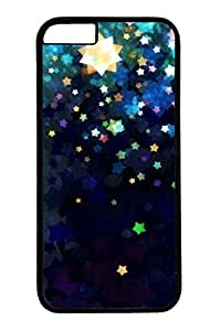 Colorful Stars Slim Hard Cover for iPhone 6 Plus Case ( 5.5 inch ) PC Black Cases by mcsharks