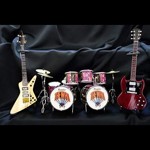 2019人気特価 The Who miniature Guitar&Drum miniature Set Festival The Isle Isle of Wight Festival 3点セット B07PF5PT4L, 品質満点:6960f248 --- efichas.com.br