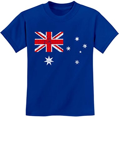Australian Flag - Vintage Style Retro Australia Flag Youth Kids T-Shirt Medium Blue (Best T Shirts Australia)