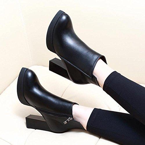 stivali martin tacco nudo donna americano gli tacco stivali le ha stivali da corte gli maniche col GTVERNH black stivali scarpe gli euro q4SOxn5gg