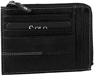 Wallet man SOLO SOPRANI black in leather pocket with zip credit cards A5622