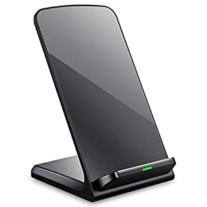 Turbot 3-Coil Wireless Charger QI Wireless Charging Phone Stand for iPhone 8/8 Plus, iPhone X, Samsung Galaxy Note8 S8 S8 Plus and all QI-Enabled Devices