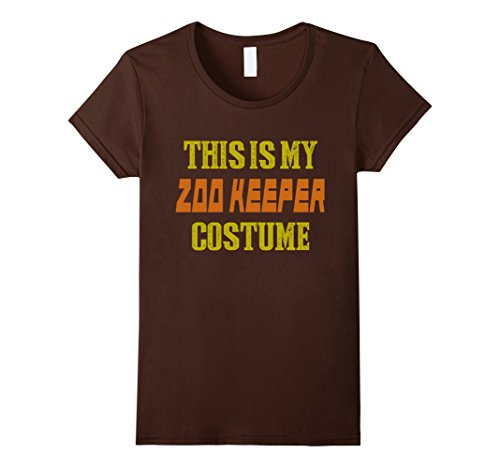 [Women's Halloween Shirt - This is My Zoo Keeper Costume XL Brown] (Zookeeper Costumes For Womens)