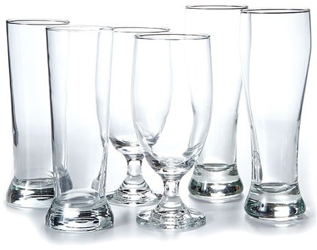 - Circleware Scotland 6 Piece Footed Stem Drinking Glasses & Pilsners Beer Set, 2-20 oz/2-19 oz/2-16.25 oz, Clear