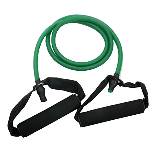 Resistance Band - SODIAL(R) Exercise Resistance Bands Set Yoga Fitness Workout Stretch Heavy Duty Tubes Green