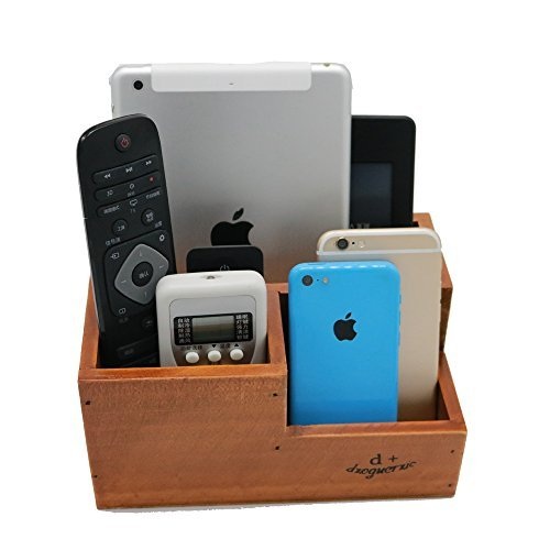 Classical Vanity (Vintage Wooden 3 Compartment Desktop Office Supplies Storage Organizer / Remote Control Caddy)