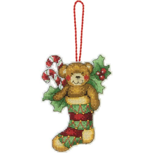 Cross Stitch Christmas Ornament Kits (Dimensions 70-08894 Bear Counted Cross Stitch Ornament Kit)
