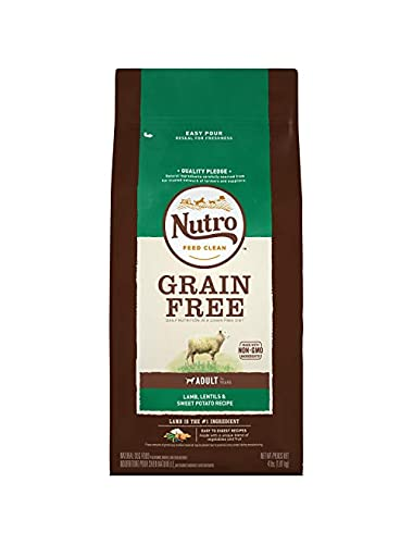NUTRO Grain Free Adult Pasture-Fed Lamb, Lentils and Sweet Potato Recipe Dry Dog Food 4 Pounds