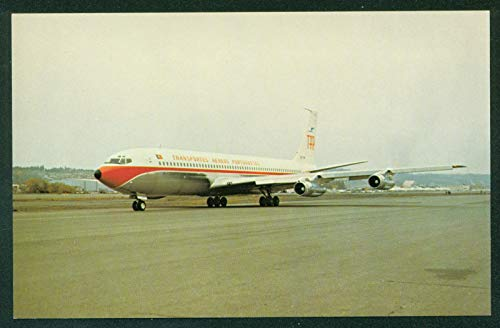 707 Aircraft Boeing - TAP Transportes Aereos Portugal Boeing 707 Aircraft Santa Cruz Airplane Airline Postcard