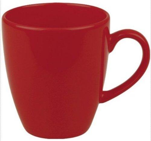 Waechtersbach Fun Factory II Red Jumbo Cafelatte Mugs, Set of 4