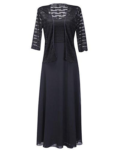 long black evening dress with jacket - 3