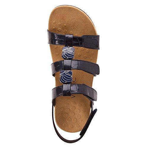 Amber Vionic Croc Sandals Womens PAT Navy 6 Riptape dwwx6pBq