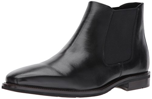 ECCO Men's Faro Plain Toe Boot Chelsea, Black, 44 EU/11 M (Ecco Plain Boots)