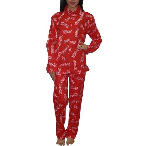 2pc-set-coca-cola-womens-fall-winter-thermal-pajama-set