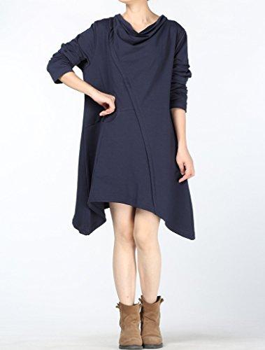 MatchLife - Sudadera - para mujer Style2-Navy Blue