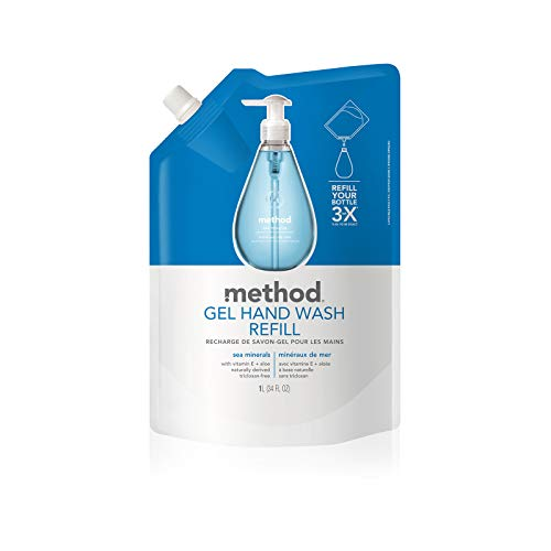 Method Gel Hand Soap Refill, Sea Minerals, 34 Ounce