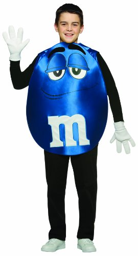 [Rasta Imposta M&M's Poncho, Blue, Teen 13-16] (Childrens Food Halloween Costumes)