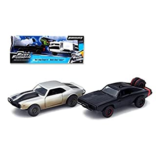 Jada 97163 Doms 1970 Dodge Charger R & T Off Road & Romans Chevrolet Camaro Z by 28 Fast & Furious 7 Movie Set of 2 Cars 1-32 Diecast Model Cars