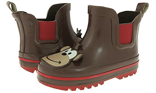Capelli New York Toddler Boys Monkey Face Rain Boot Brown Combo 4/5 (Toddler Monkey Rain Boots)
