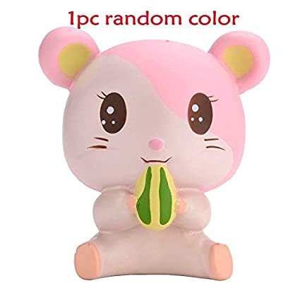 Squishy Pink Hamster 10cm Slow Rising Cute Animals Collection Gift Decor Soft To