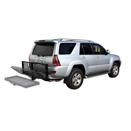 Hitchカーゴラック、Trailer Hitchラックgives your car余分なスペースの荷物に ブラック SPLT-CARGO-RACK B01M0M4AU7  Foldable