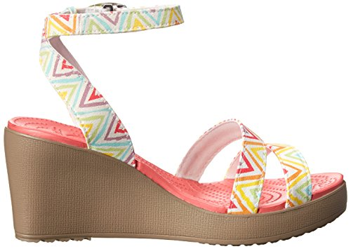 Crocs Multi Mushroom Leigh Graphique Wedge Femmes rXqCSwxr