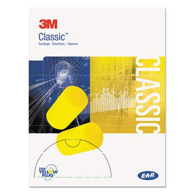 3M Classic Small Uncorded Earplugs 310-1103, in Pillow Pack (Pack of 200)