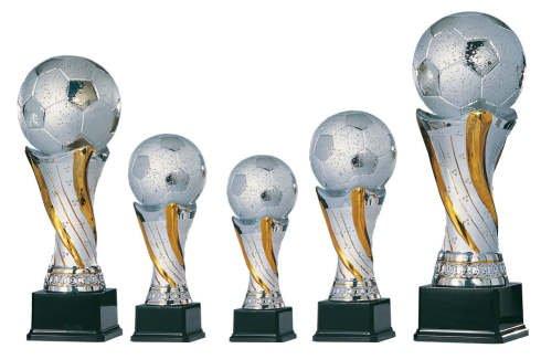 Fußballpokal aus Keramik Größe 32 cm