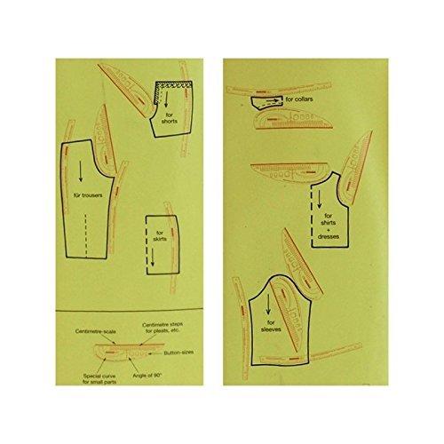 Kit regla de patronaje completo 2 REGLAS de patroneje para tus creaciones profesionales