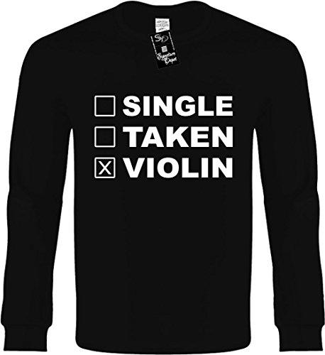 Kids Long Sleeve T-Shirt Size M (Single Taken Violin (Humorous)