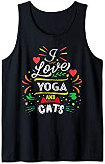 [Featured] Yoga Clothing Yoga And Cats Tank Top in ALL styles   Size S - 5XL