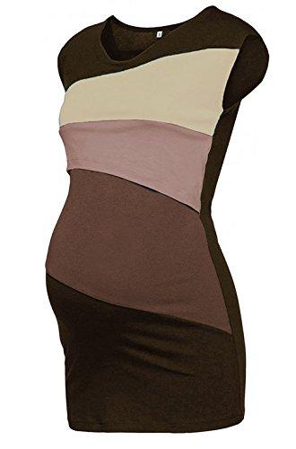 Allattamento Kahki Maglietta Donne Camicetta Abbigliamento Le Allattamento Doppio Corte Incinte GUOCU Donna 1 2 Doppio Maniche Shirt in per Strato Cappotto T AfnCFE
