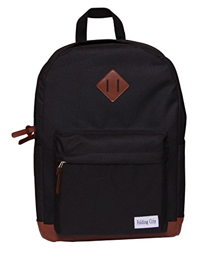 Folding City Backpack For Teenagers Pig Nose Designs Fashion Casual Travel Black School - Fashion 1801
