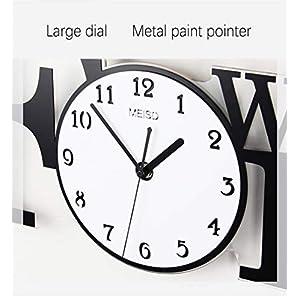 flower stand Reloj Reloj de Pared Minimalista Moderna Sala de Reloj de Cuarzo 24 Pulgadas Etiqueta de la Pared con Marco de Foto 5