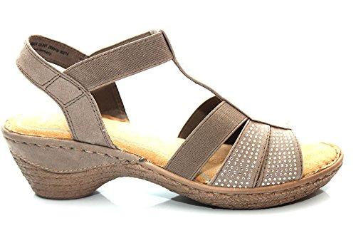 Marco Tozzi F11107Tp - Sandales détail strass - talon bas - femme