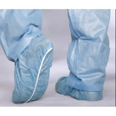 (Medline CRI2000 Boundary Shoe Covers, Spunbond, Latex Free, Regular/Large, Blue (Pack of)