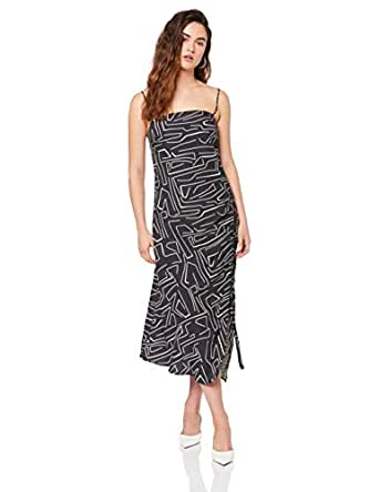 THIRD FORM Women's Picasso Drawn UP Slip Dress, Linework, 10
