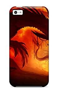New UvswLsV513LNtgX Dragon Silhouette Tpu Cover Case For Iphone 5c