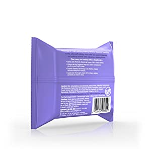 Neutrogena Makeup Remover Cleansing Towelettes & Wipes, Night Calming, 25 Count (Pack of 6)