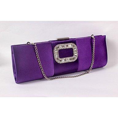 de FYios Satén Las de Fiesta Bolsa Evento Bodas Seda de Purple Mujeres Formal Noche Fucsia rrPwqEUx