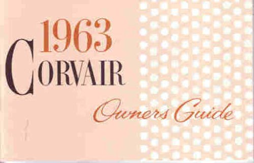 1963 Chevrolet Corvair Owners Manual ()