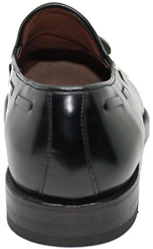 Lottusse borlas;Piel de Mocasín Zapato Calidad Máxima Negro Color 5623 con vwRPvxrUq