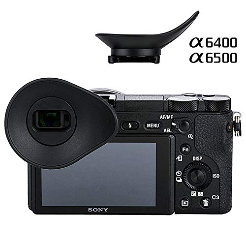 Oval Shape Rotatable Camera Eyecup Eyepiece Eyeshade Viewfinder Sunshade Cover Protector for Sony A6400 A6500, Replaces Sony FDA-EP17 FDAEP17 Eye ()