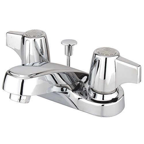 Kingston Brass KB160 Vista Twin Canopy Handles 4-Inch Centerset Lavatory Faucet with Non-Metallic Pop-Up, Polished Chrome