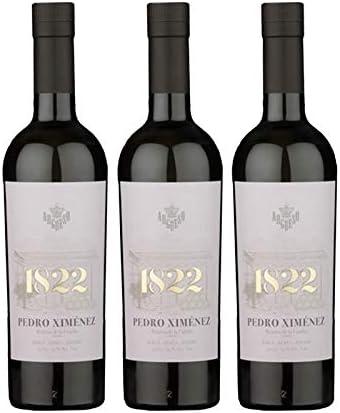 Vino dulce Pedro Ximenez 1822 de 50 cl - D.O. Jerez-Sherry - Bodegas Argüeso (Pack de 3 botellas)