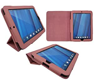 iTALKonline PADWEAR ADVANCED Executive PINK Wallet Case Cover Stand With TRI-FOLD SMART TILT For HP Touch Pad TouchPad