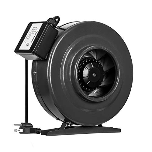 VIVOSUN 6 Inch 440 CFM Inline Duct Fan Vent Blower Ventilation Fan for Grow Tent ETL Certified ()