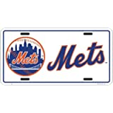 New York Mets White License Plate