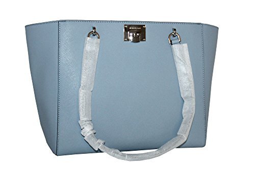 MICHAEL Michael Kors TINA LARGE TOP ZIP Women's Handbag TOTE (PALE BLUE)